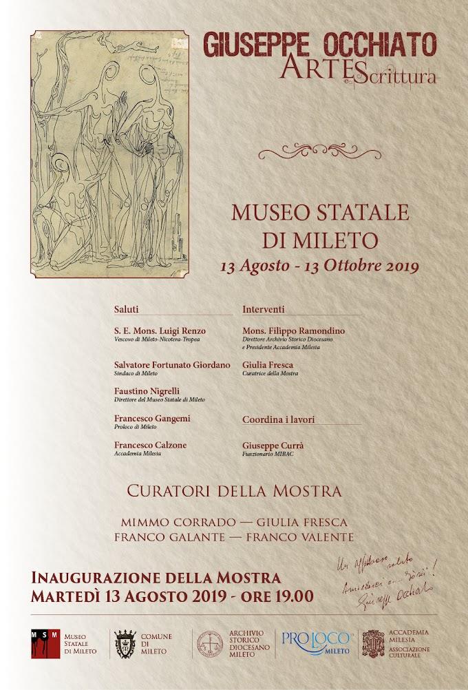 A Mileto la mostra Giuseppe Occhiato Arte e scrittura