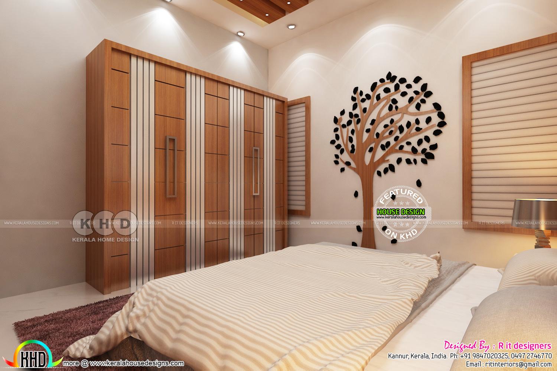 Grand creative master bedroom interior kerala home for Creative interior designs