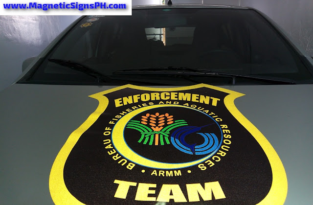 Reflective Vehicle Magnet - Enforcement Team