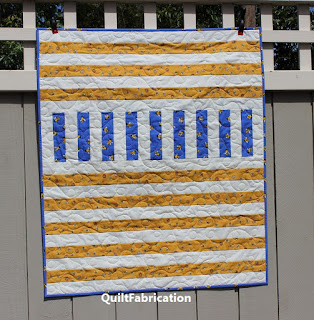 MODERN QUILT-BABY QUILT-BEE QUILT-SCRAPPY AND HAPPY QUILT