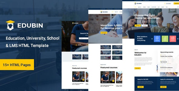 Edubin - Education HTML Template Free Download Nulled