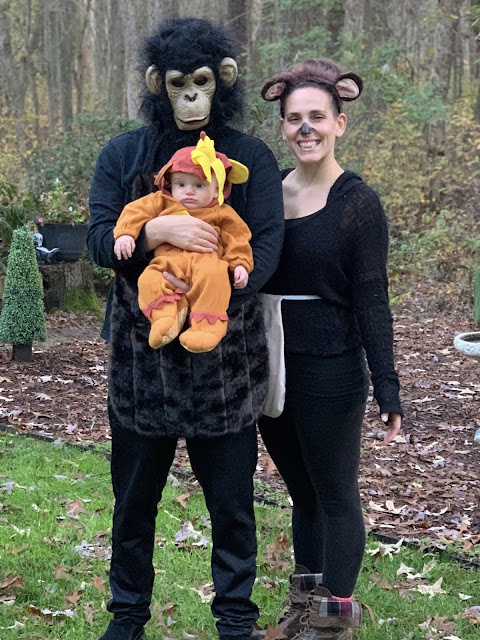 Monkey Buddha Family Halloween Paul Loretta Micarelli