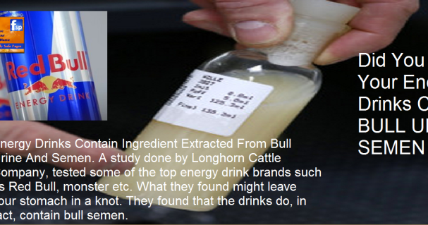 what energy drink contains bull sperm