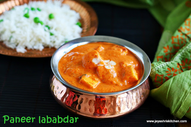 Paneer lababdar recipe side dish for roti jeyashris kitchen paneer lebabdar is a rich onion tomato based restaurant style paneer gravy i have come across this name in kailash parbat menu card here in singapore forumfinder Choice Image