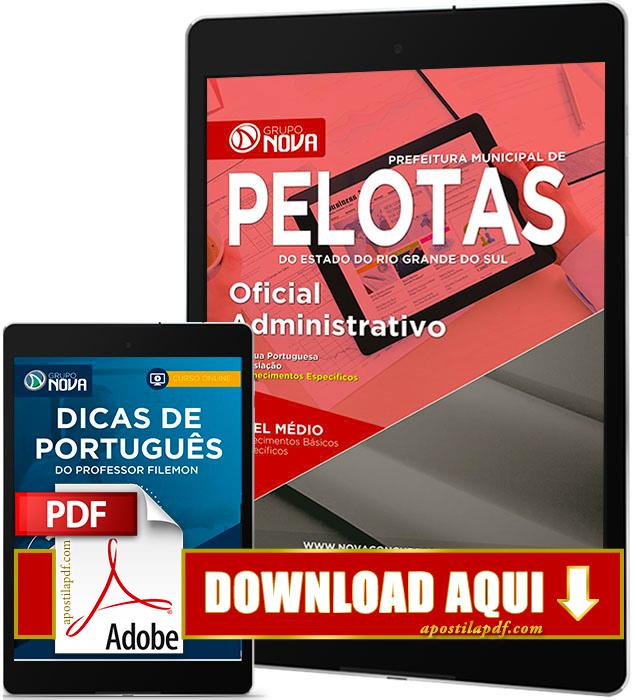 Apostila Prefeitura de Pelotas RS 2017 PDF Download Oficial Administrativo
