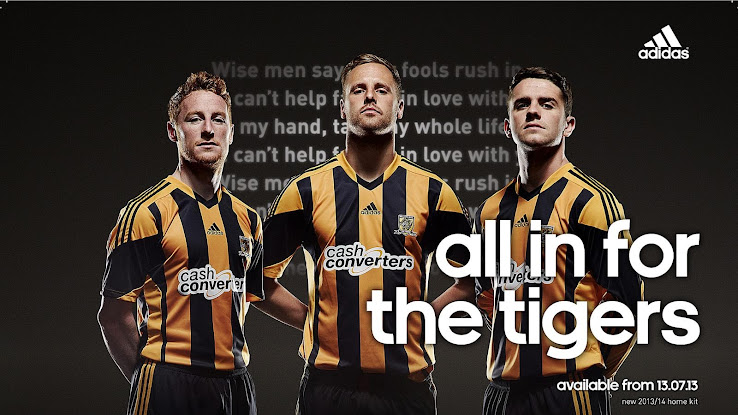 Hull City 13-14 Home Kit. This is the new Hull City 2013-14 Home Shirt made  by adidas. 37b54ac44