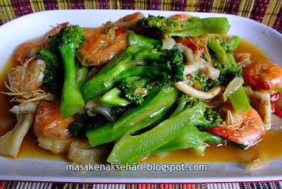 Resep Tumis Brokoli Jamur Tiram