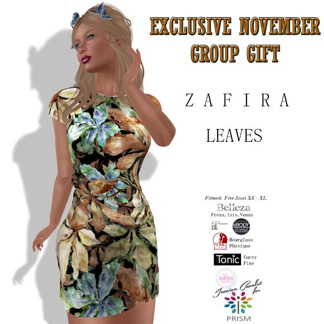 PRISM ~ New November Group Gift ZAFIRA in Leaves!