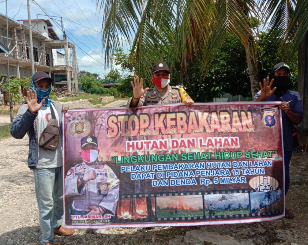 Bripka Rinto Gencar Sosialisasikan Larangan Karhutla ke Warga Binaan