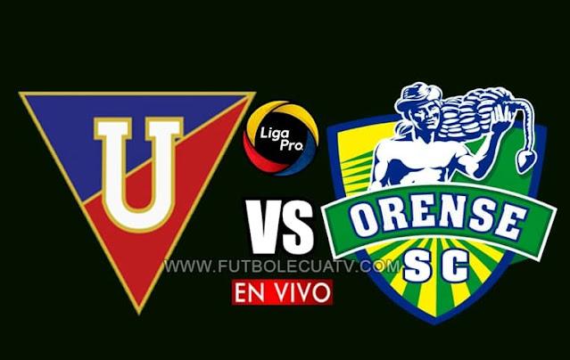 Liga de Quito choca ante Orense en vivo a partir de las 16h30 horario de nuestro país, por la jornada cinco del torneo ecuatoriano a emitirse por GolTV Ecuador jugándose en el estadio Rodrigo Paz Delgado. Con arbitraje principal de Roddy Zambrano.