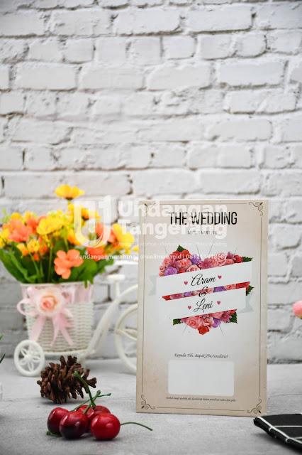 Undangan Pernikahan Murah Tema Florist di Tangerang - Walimahanid