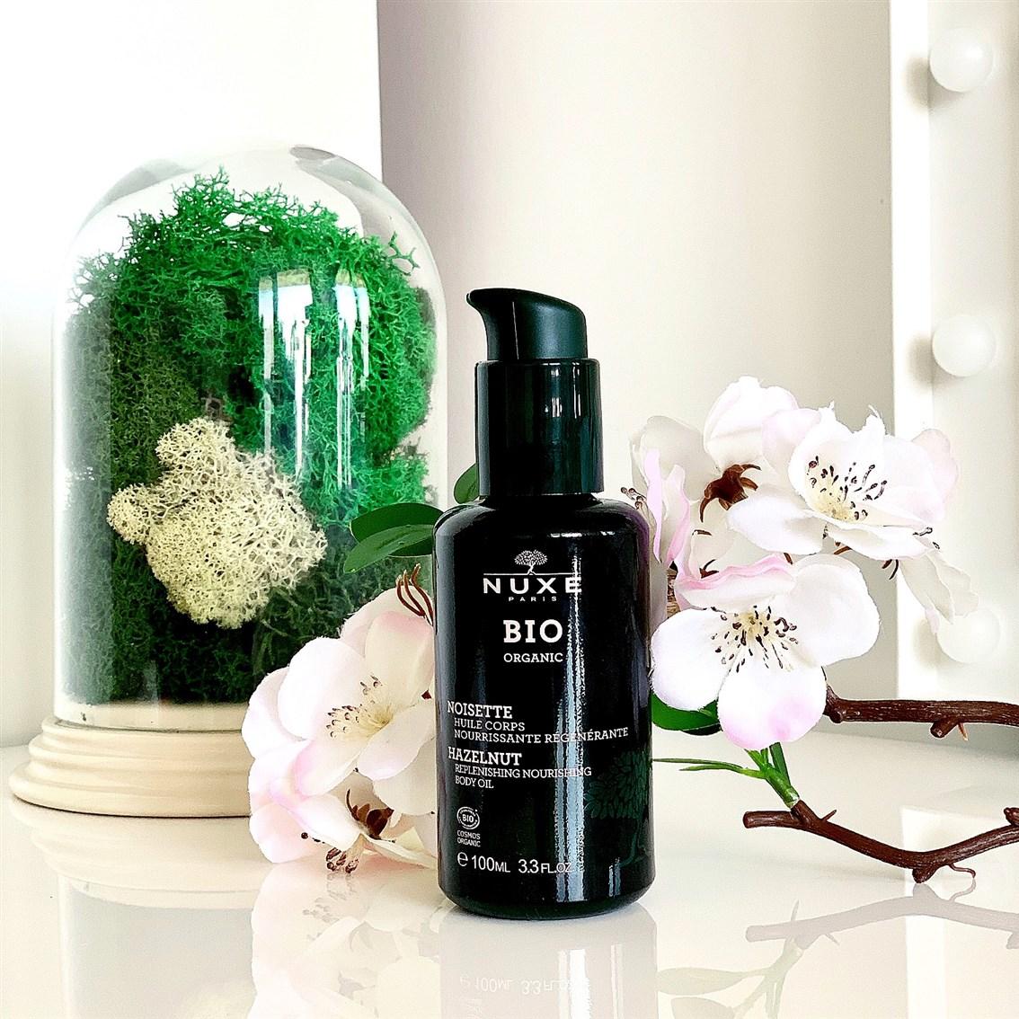 Nuxe BIO Odżywczy olejek do ciała orzech laskowy opinie