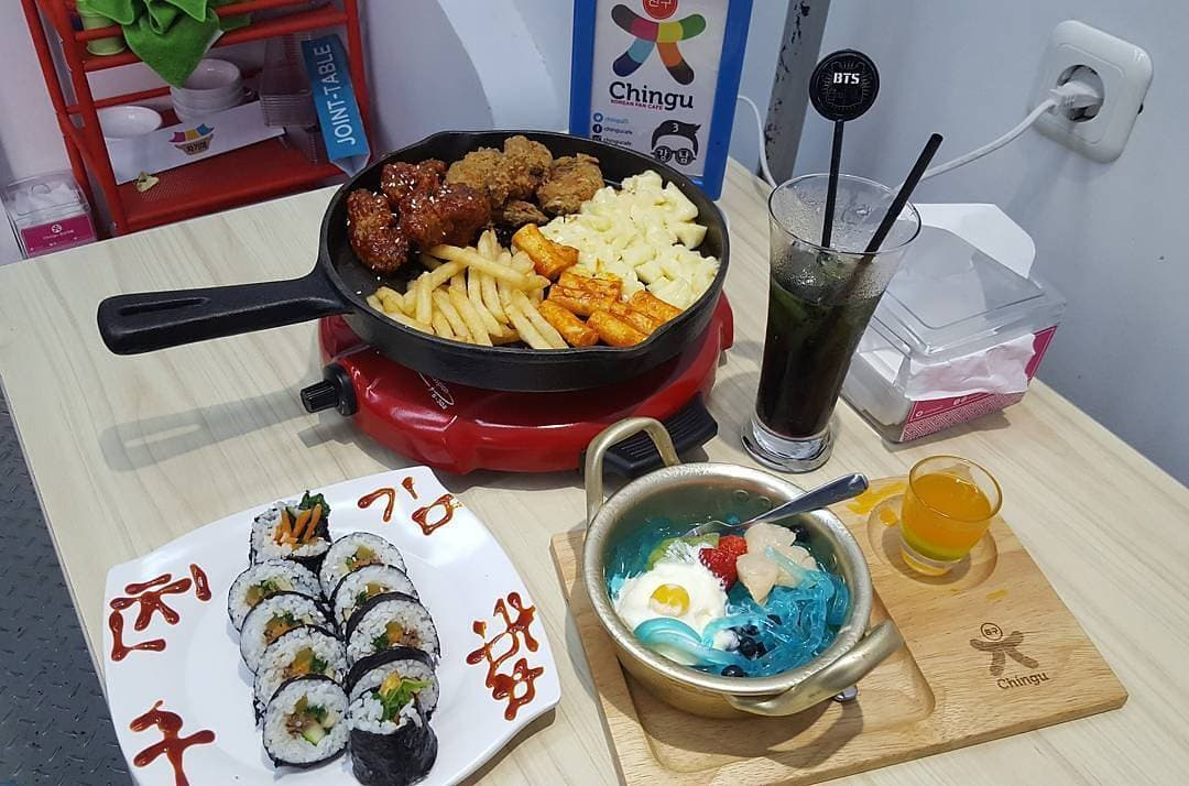 menu makanan chingu cafe bandung