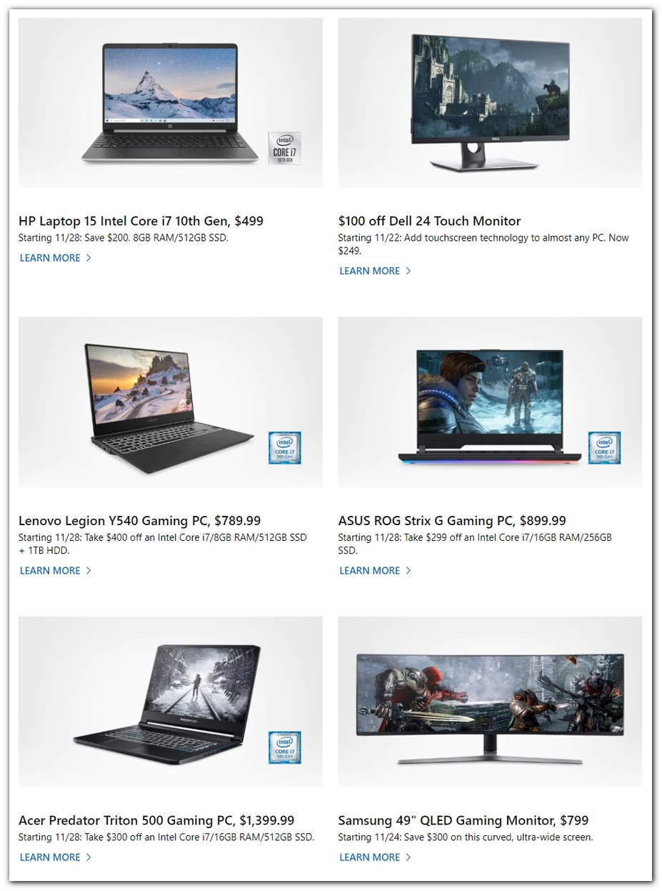 Microsoft Store Black Friday 2019 Page 3