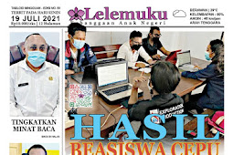 Tabloid Lelemuku #50 - Hasil Beasiswa Cepu - 19 Juli 2021