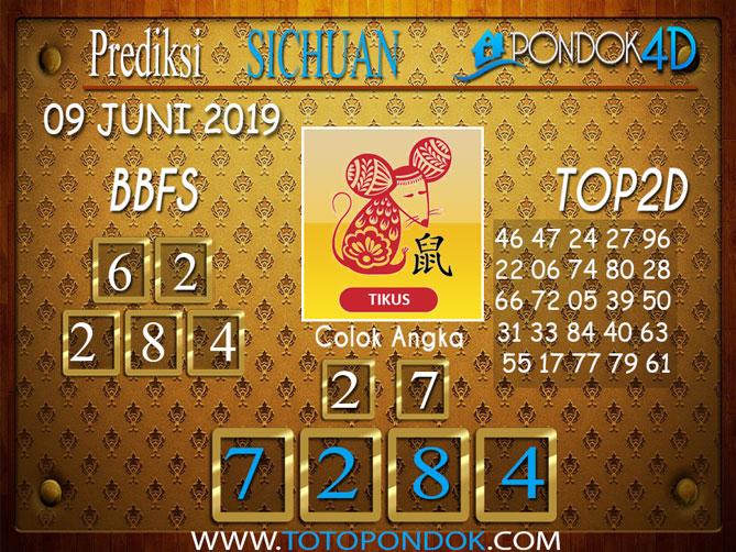 Prediksi Togel SICHUAN PONDOK4D 09 JUNI 2019