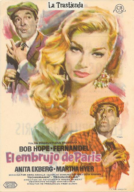 Programa de Cine - El Embrujo de París - Bob Hope - Anita Ekberg