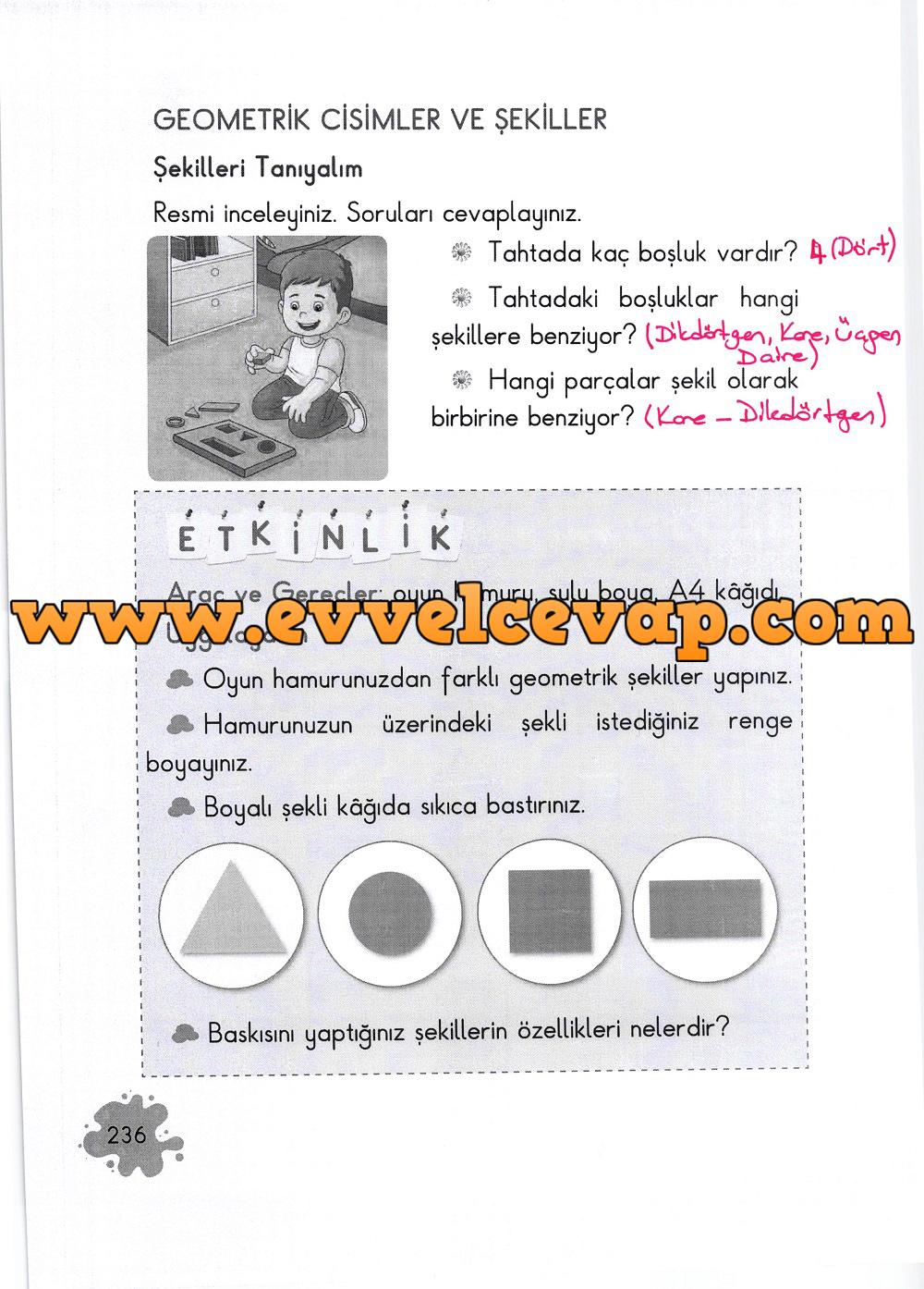 2. Sınıf Açılım Yayınları Matematik Ders Kitabı 236. Sayfa Cevapları