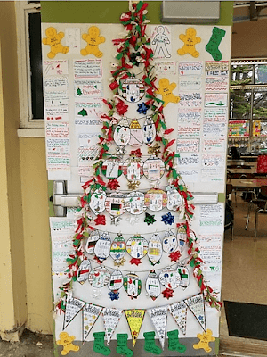 Teachers are so creative! This post is filled with photos teachers have sent of their math classrooms and of the Christmas math activities they used to decorate their classroom walls and classroom doors. There are ideas for decorating with fractions, for middle school and even creating a Christmas tree out of math pennants!
