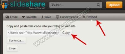 شرح كيفية تضمين وعرض PPT في بلوجر و مواقع الويب