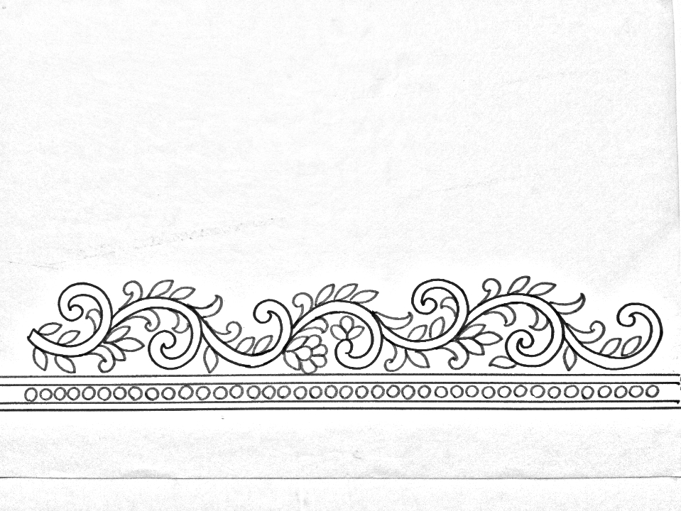 Hand Embroidery Design 06 How To Draw An Easy Borders