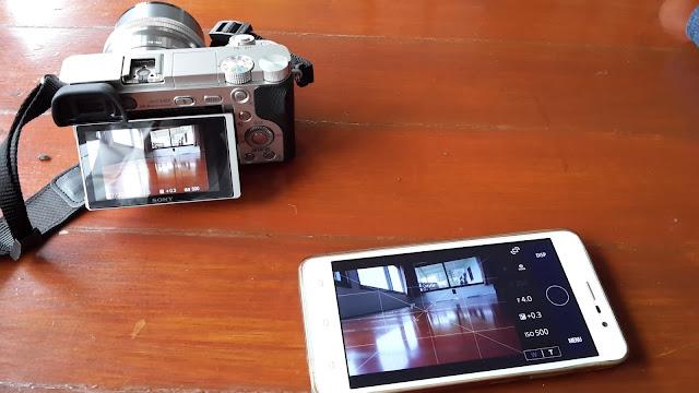 Menggunakan Smartphone Sebagai Remote Kamera Sony A6000