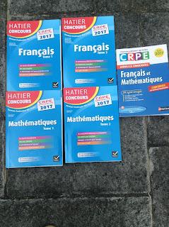 Livres CRPE Admissibilité français mathématiques hatier