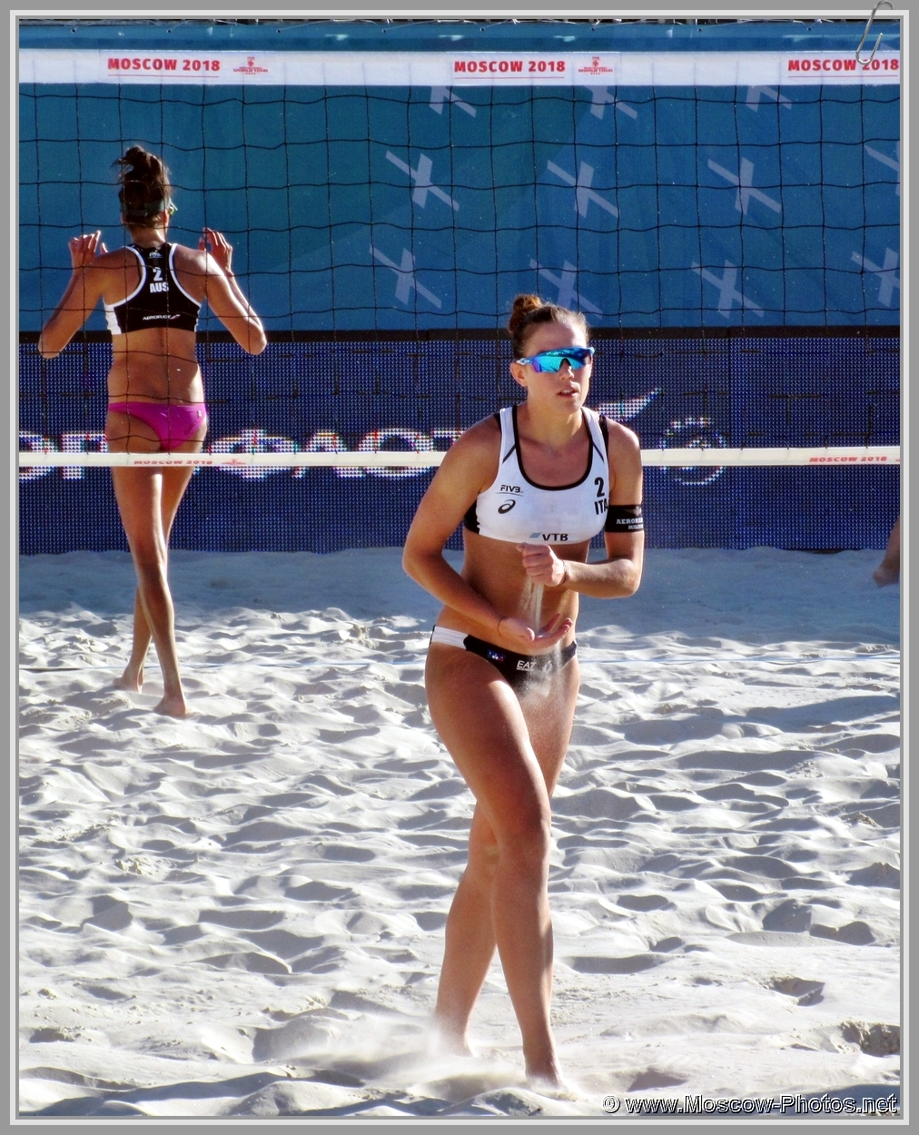 Viktoria Orsi Toth at FIVB Beach Volleyball World Tour in Moscow 2018