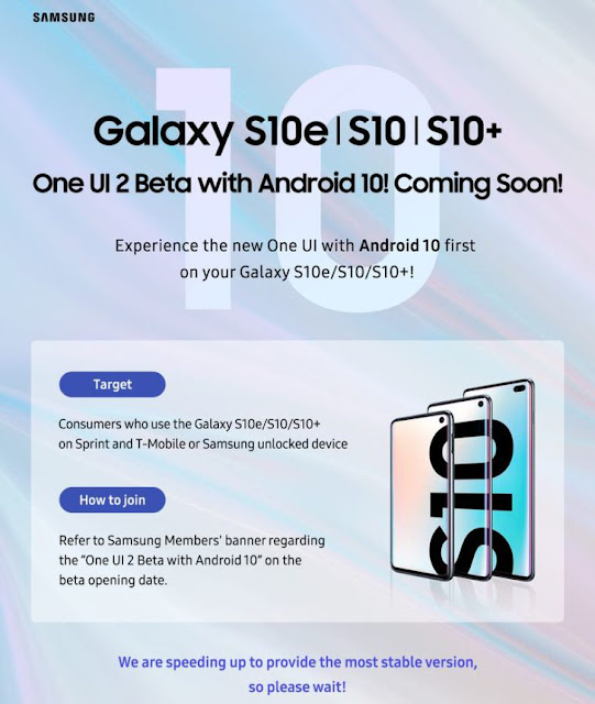 Update Samsung OneUI 2.0 Beta berbasis Android 10 Langsung untuk Galaxy S10e / S10 / S10 + [Download OTA] 2