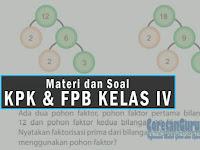 Materi dan Contoh Soal Latihan Matematika KPK dan FPB SD Kelas IV Semester 1 Kurikulum 2013