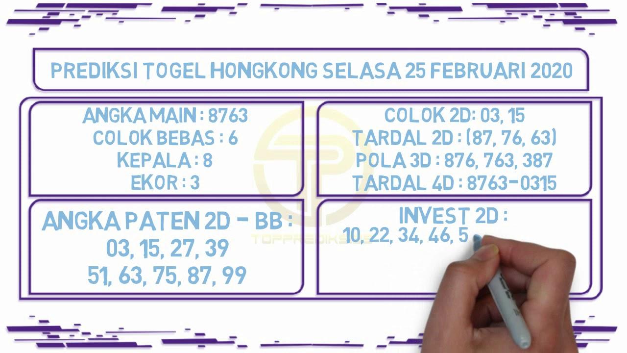 Prediksi Togel JP Hongkong 25 Februari 2020 - Prediksi Togel JP