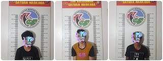 Satnarkoba Polres Pelabuhan Makassar kembali Menciduk 3 Pelaku Narkoba di Rappokalling