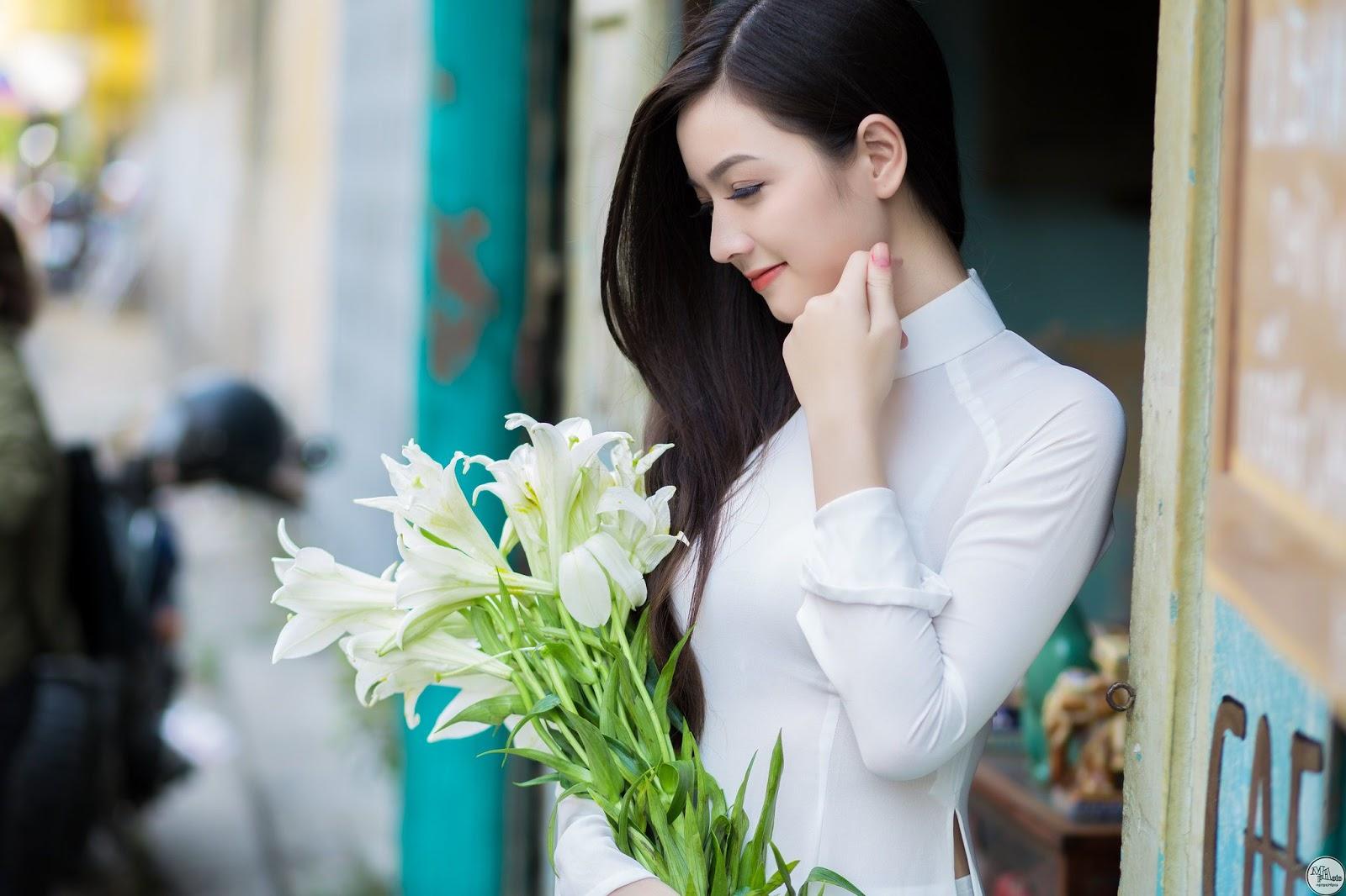 Top ảnh girl xinh Việt với áo dài thướt tha đẹp mê mẩn lòng người #1