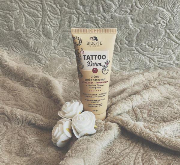 Crème après-tatouage réparation hydratation gamme Tattoo Derm de Biocyte Cosmetic