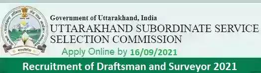 UKSSSC Draftsman Surveyor Vacancy Recruitment 2021