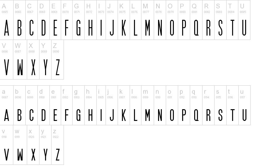 17) Nama font untuk Credit tittle Poster Film  Download Font