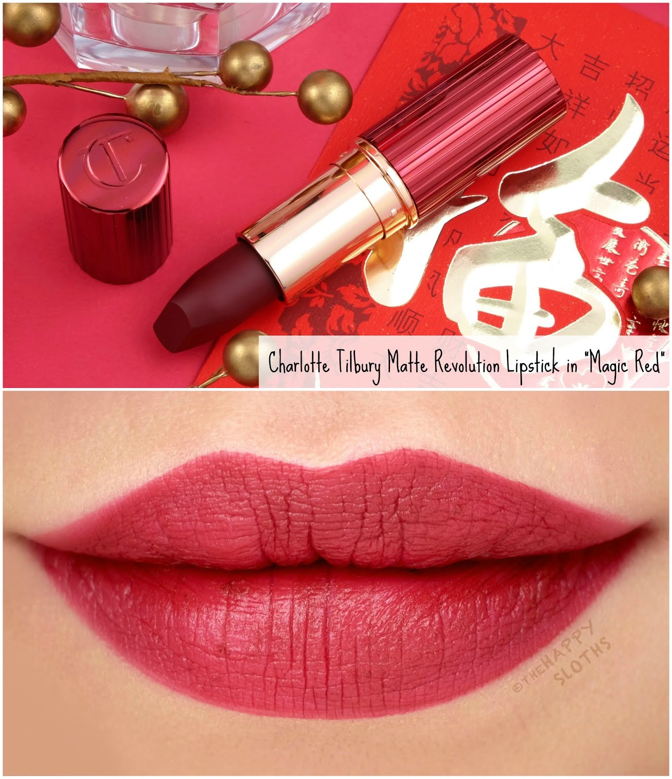 "Charlotte Tilbury | Lunar New Year Limited Edition Matte Revolution Lipstick in ""Magic Red"": Review and Swatches"