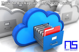 How to Backup all Blog Posts Easily