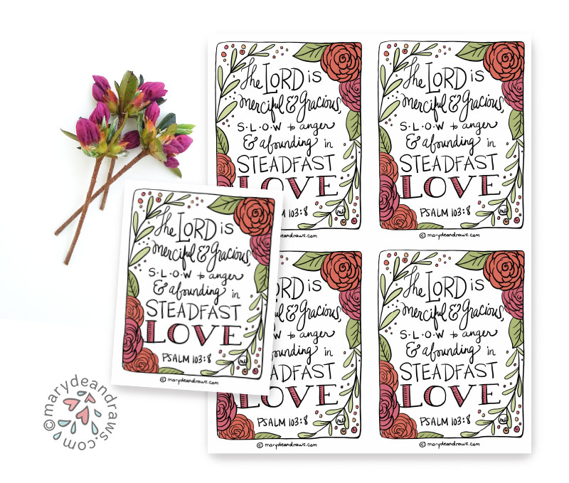 picture relating to Printable Bible Verse Cards referred to as 10 techniques in the direction of be a different mothers cheerleader + Psalm 103:9