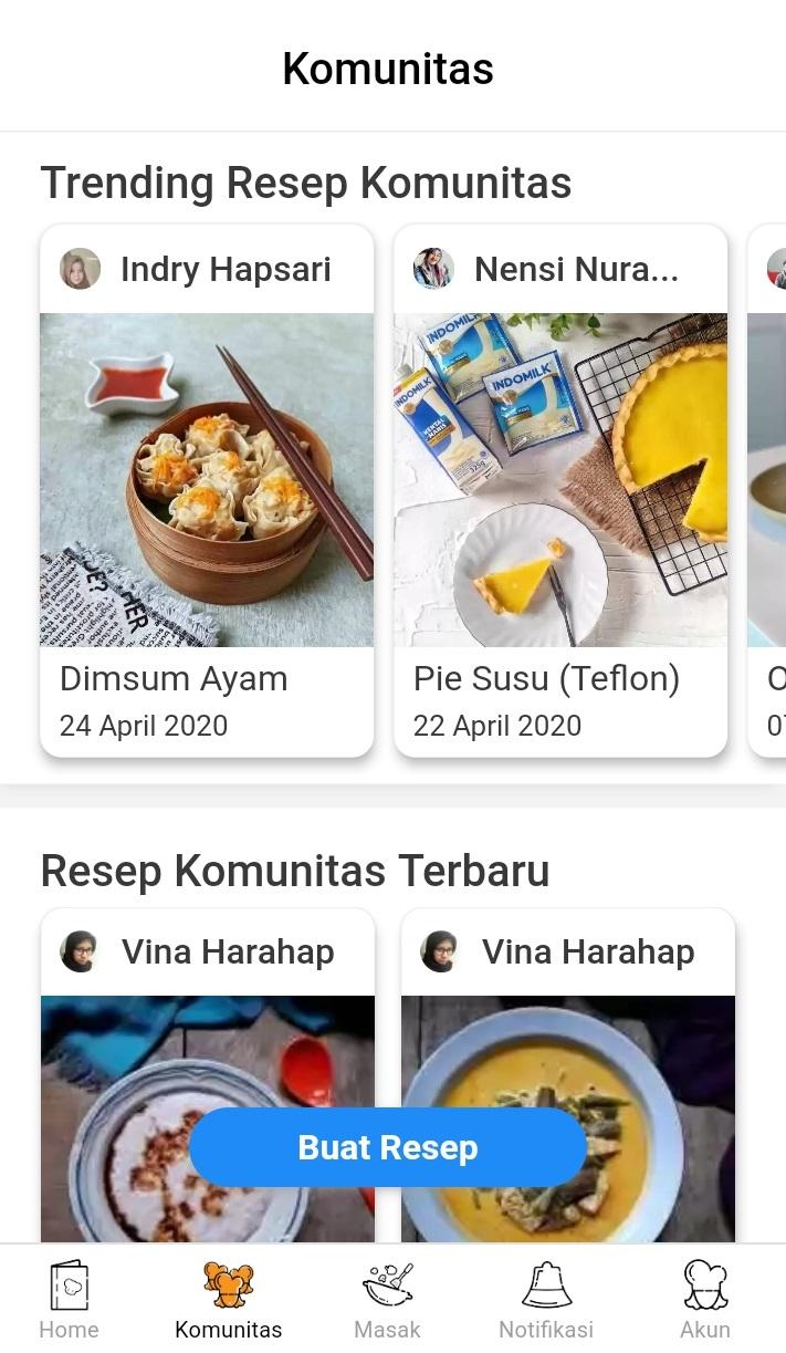 Cari Ide Memasak? Download Aplikasi Resep Masakan Yummy App Saja -  Fitur Komunitas