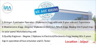 Insolation Energy Pvt Ltd Recruitment For Diploma Experienced Holders For Jaipur Location