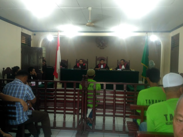 Suasana sidang di PN Tanjungbalai.