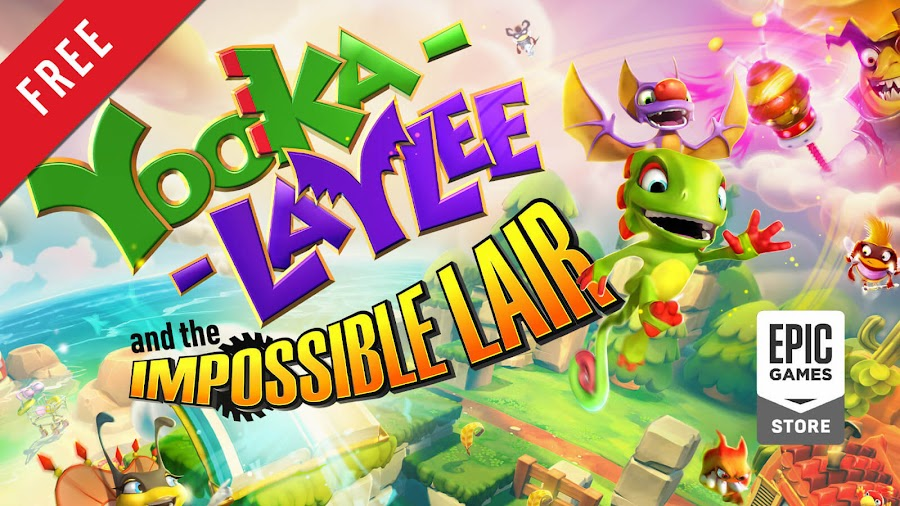 yooka laylee and the impossible lair free pc game epic games store side-scrolling 2d platform game playtonic games team 17