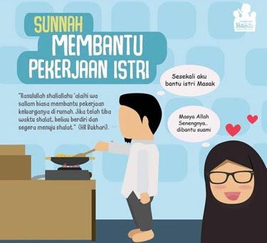 hadits membantu istri