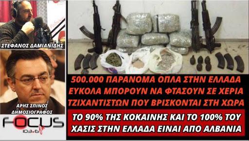 """Μια εκπομπή που """"έσπασε κόκκαλα"""" για Αλβανική Μαφία και εκατοντάδες χιλιάδες κρυμμένα όπλα για τα τζιχάντια (βίντεο)"""