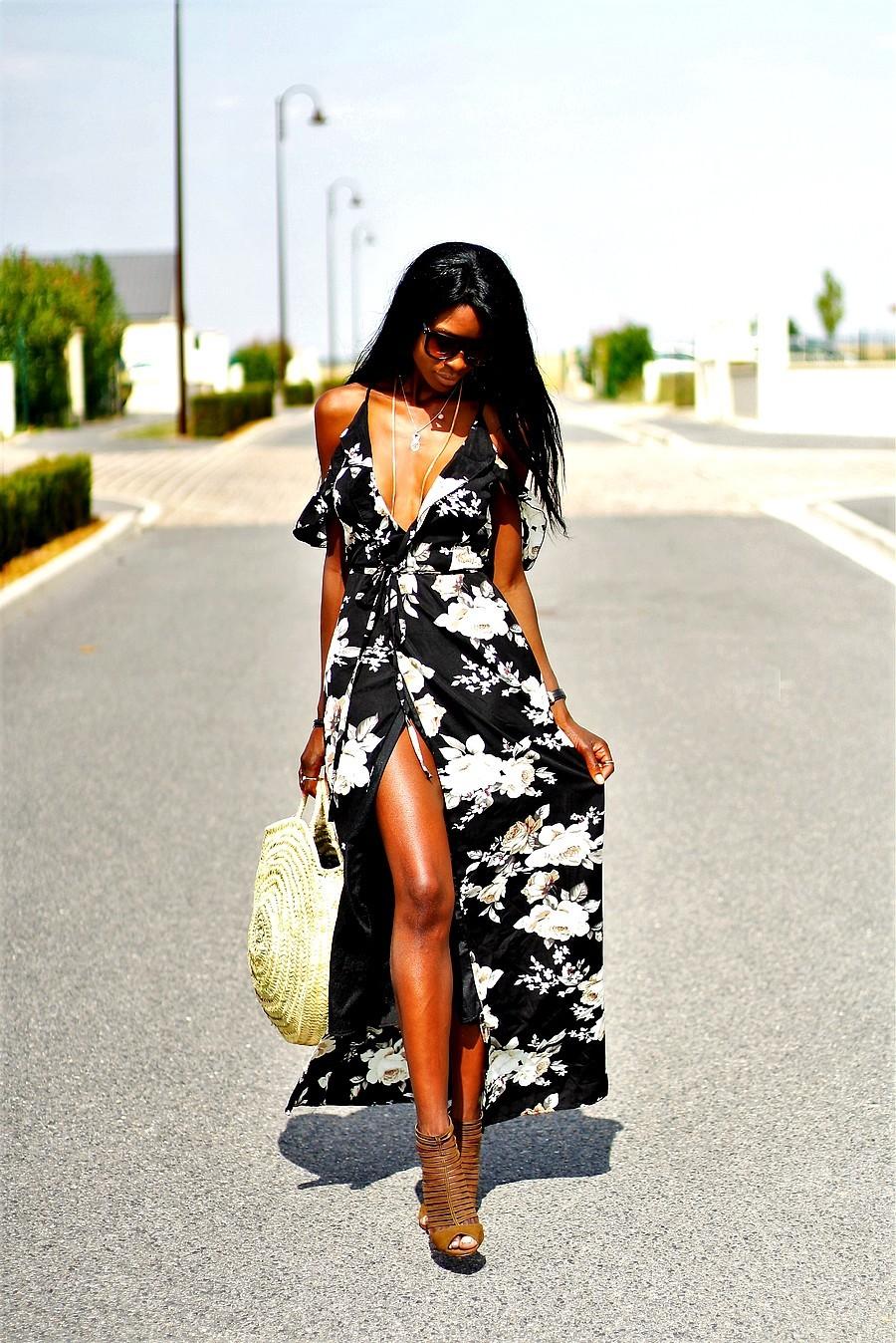 robe-longue-imprime-floral-panier-rond-blog-mode