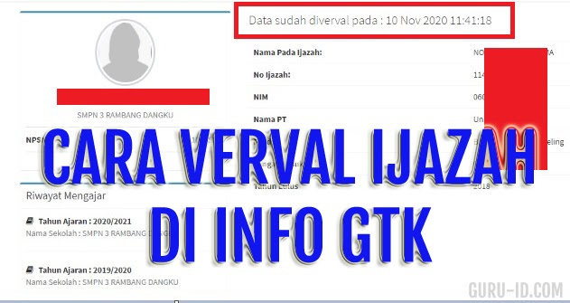 Cara Verval Ijazah Di Info GTK Untuk Guru Honorer - Info ...