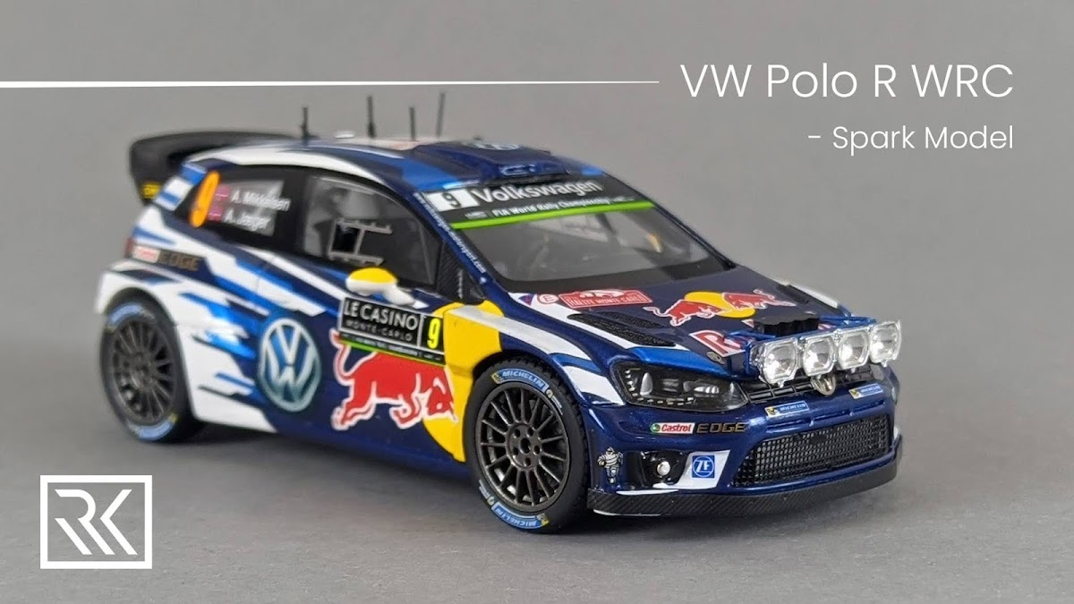 1:43 Spark Volkswagen Polo R WRC, Andreas Mikkelsen / Anders Jaeger, Rally Monte-Carlo 2016