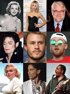 Celebrity drug addicts