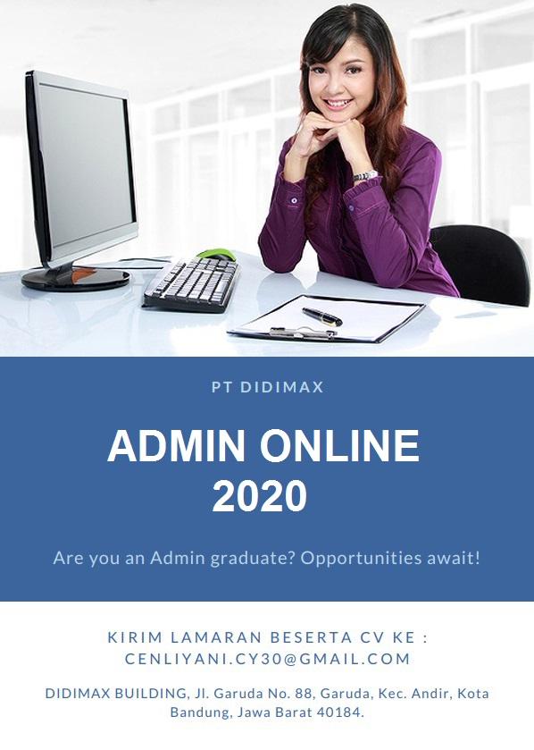 Lowongan Kerja Admin Online PT. Didimax Bandung Februari 2020